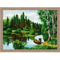 Лесной пейзаж Алмазная вышивка мозаика на подрамнике
