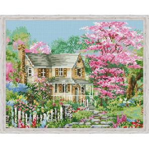 Весна за городом Алмазная вышивка мозаика на подрамнике