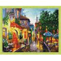 Вечер в южном городке Алмазная вышивка мозаика на подрамнике