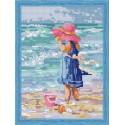 Девочка в розовой шляпе Алмазная вышивка мозаика на подрамнике
