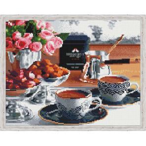Аромат утреннего кофе Алмазная вышивка мозаика на подрамнике
