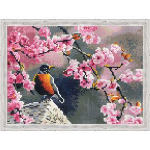 Весенняя птичка Алмазная вышивка мозаика на подрамнике