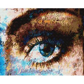 Посмотри в мои глаза Раскраска картина по номерам на холсте