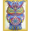 Яркая сова Алмазная вышивка мозаика 5D Color Kit