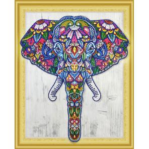 Слон Алмазная вышивка мозаика 5D Color Kit