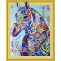 Цветная лошадь Алмазная вышивка мозаика 5D Color Kit