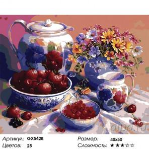 Ягодный завтрак Раскраска картина по номерам на холсте GX5428