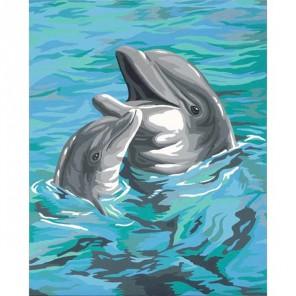 Два дельфина 91148 Раскраска по номерам Dimensions
