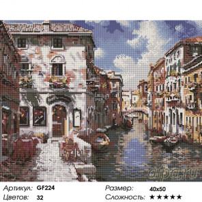 Количество цветов и сложность Венецианские дома Алмазная вышивка мозаика на подрамнике GF224