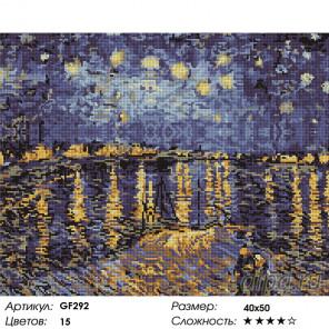 Количество цветов и сложность Звездная ночь на Роной Алмазная вышивка мозаика на подрамнике GF292