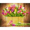 Букет тюльпанов Картина по номерам на дереве GXT5666