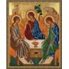 Святая Троица Алмазная частичная мозаика на подрамнике Molly КМ0083
