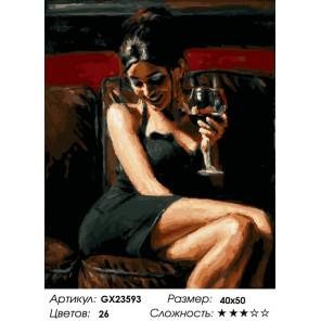 Количество цветов и сложность Загадочная дама Раскраска картина по номерам на холсте GX23593