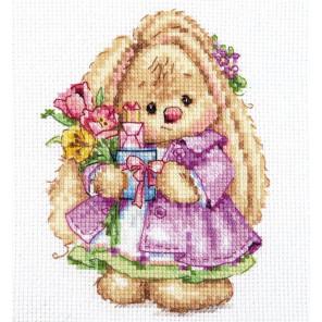 В рамке Весна. Зайка Ми Набор для вышивания Алиса 0-193