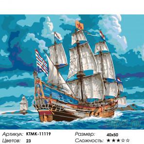 Количество цветов и сложность Лазурное море Раскраска по номерам на холсте Живопись по номерам KTMK-11119