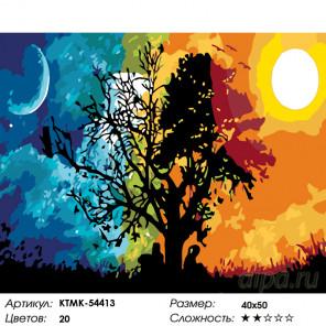 Количество цветов и сложность Небесные светила Раскраска по номерам на холсте Живопись по номерам KTMK-54413