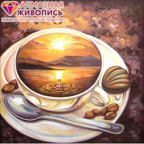 Кофейное путешествие Алмазная вышивка мозаика АЖ-1168