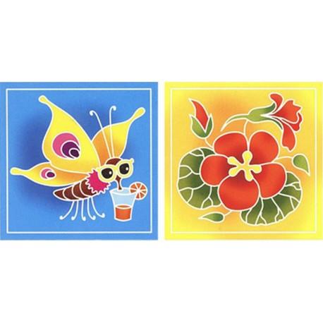 Бабочка и цветы Раскраски (техника батик) по номерам Батик ...
