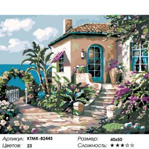 Домик на морском берегу Раскраска по номерам на холсте Живопись по номерам KTMK-82445