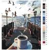 схема Кофе на причале Раскраска по номерам на холсте Живопись по номерам KTMK-001144
