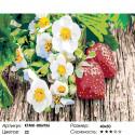 Количество цветов и сложность Спелая земляника Раскраска по номерам на холсте Живопись по номерам KTMK-006956