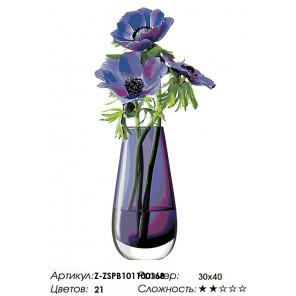 Количество цветов и сложность Голубой букетик Раскраска по номерам на холсте Живопись по номерам Z-ZSPB101100168