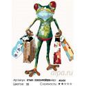 Количество цветов и сложность Лягушка с покупками Раскраска картина по номерам на холсте KTMK-32825442029
