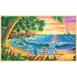 На пляже Раскраска (картина) по номерам Dimensions