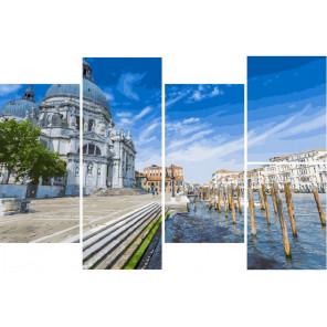 Берег Венеции Модульная картина по номерам на холсте с подрамником WX1096