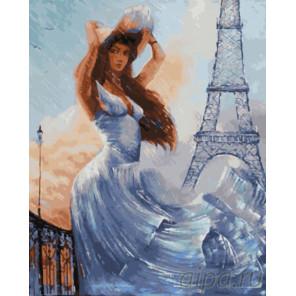 Белые краски Парижа Раскраска картина по номерам на холсте