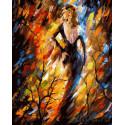 Дама Осень Раскраска картина по номерам на холсте