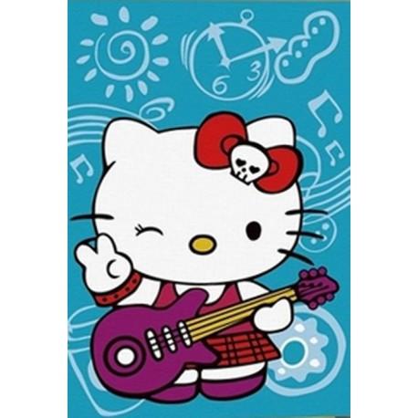 Китти с гитарой Раскраска по номерам на холсте Color Kit ...