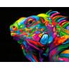 Радужная игуана Раскраска картина по номерам на холсте