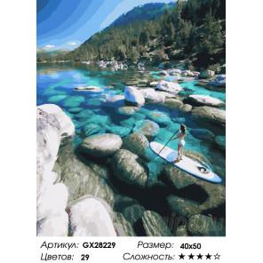 Количество цветов и сложность На озере Тахо Раскраска картина по номерам на холсте GX28229