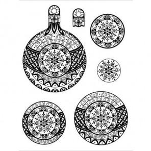 Снежные шарики Набор прозрачных штампов для скрапбукинга, кардмейкинга Viva Decor