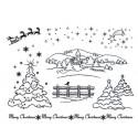 Зима Набор прозрачных штампов для скрапбукинга, кардмейкинга Viva Decor