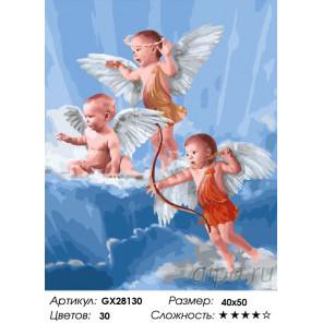Количество цветов и сложность Наши ангелы Раскраска картина по номерам на холсте GX28130