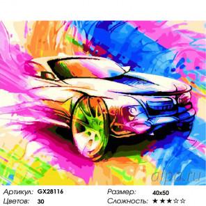 Количество цветов и сложность Скорость Раскраска картина по номерам на холсте GX28116