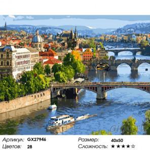 Мосты Праги Раскраска картина по номерам на холсте GX27946