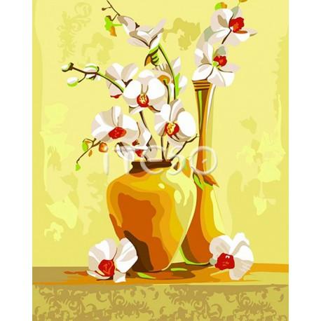 Изысканные орхидеи Раскраска ( картина ) по номерам на ...