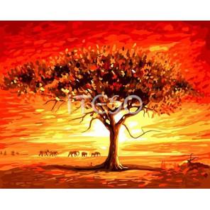 Африка неизведанная Раскраска ( картина ) по номерам акриловыми красками на холсте Iteso