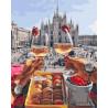 Завтрак в Милане Раскраска картина по номерам на холсте GX28592