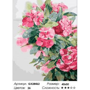 Количество цветов и сложность Акварельные цветы Раскраска картина по номерам на холсте GX28462