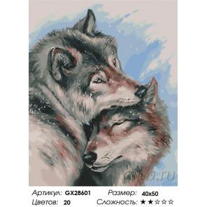 Количество цветов и сложность Зимняя любовь Раскраска картина по номерам на холсте GX28601