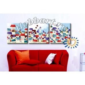 Волшебный город Раскраски картины по номерам акриловыми красками на холсте Hobbart