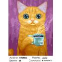 Вкусный чай Раскраска картина по номерам на холсте