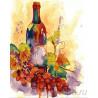 Игристое вино Раскраска картина по номерам на холсте GX28594