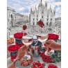 Романтика в Милане Раскраска картина по номерам на холсте GX28593