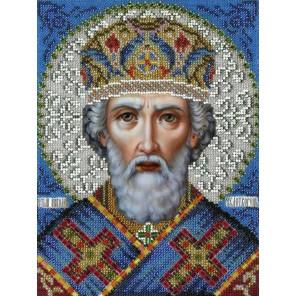 Святой Николай Чудотворец Вышиваем бисером L-148