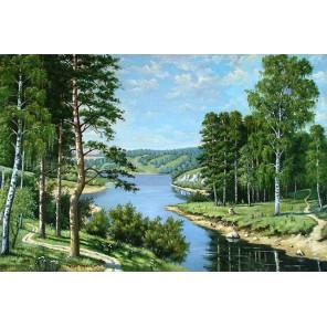 В рамке Российский пейзаж Алмазная вышивка мозаика АЖ-1237